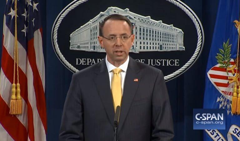 Rod Rosenstein Makes Major Announcement, Reveals Date When Mueller Probe Will End