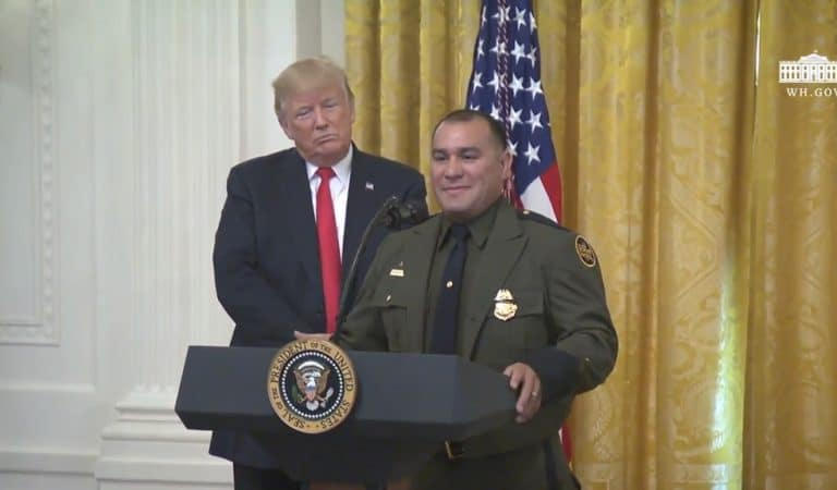 "Trump Sounds Like A Total Racist During Border Patrol Awards Ceremony, Amazed That Hispanic Agent ""Speaks Perfect English"""