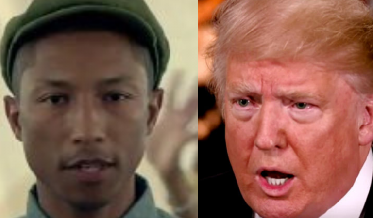 """Pharrell Williams Threatens Legal Action Against Trump For Playing """"Happy"""" Song After Mass Shooting"""