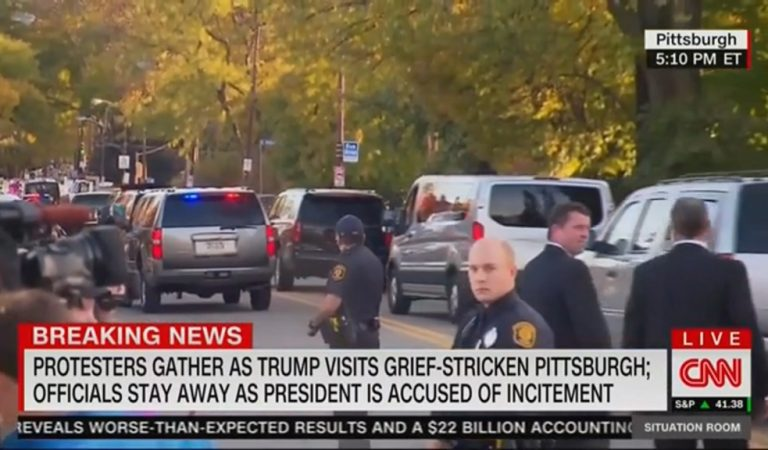 Trump's Motorcade Is Forced To Turn Around After City Of Pittsburgh Takes To The Streets In Protest