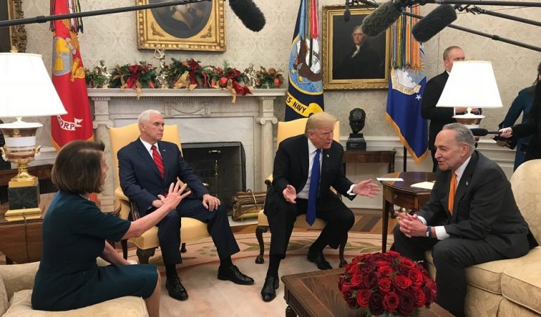 Trump Gets Into Heated Argument With Pelosi And Schumer, Threatens To Shut Down Government In Front Of Reporters