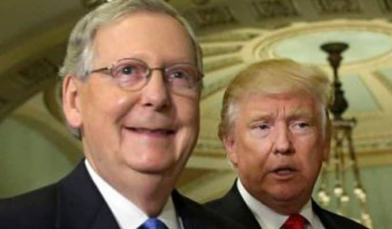 Trump Terrified McConnell Will Be Voted Out In 2020, Goes On Massive Tweetstorm To Attack Mitch's Opponent