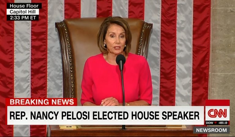 Nancy Pelosi Takes Brilliant Dig At Trump As She Takes The Gavel As New Speaker Of The House
