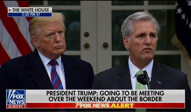 "Trump Gets Confused With All The White GOP Men Around Him, Calls Minority Leader Kevin McCarthy ""Steve"" During Live Speech"