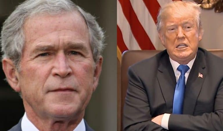 George W. Bush Tells Trump To Sit The F*ck Down After POTUS Attacks The Press