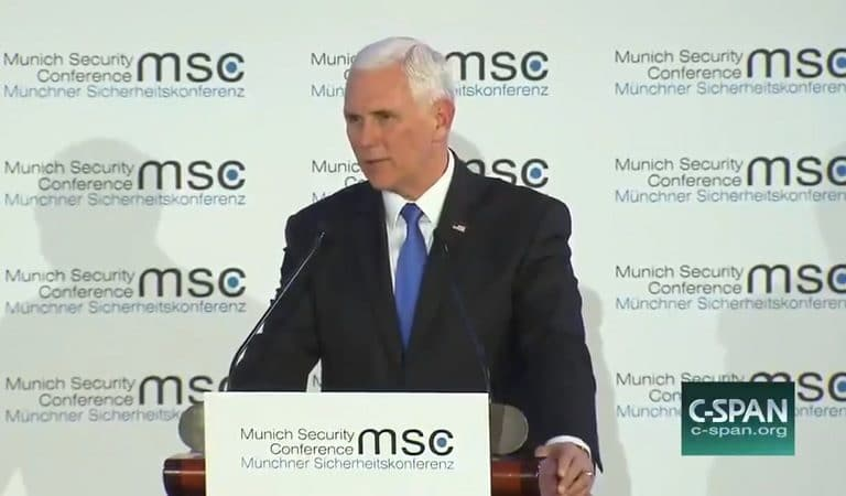 Mike Pence Mentions Trump During Speech To Allies, Room Goes Awkwardly Silent