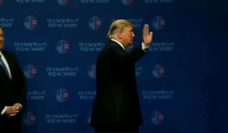 "Video Footage Showed Trump Running Off Stage At Previous Summit With World Leaders, Could Be Heard Telling Staff ""Get Me Out Of Here"""