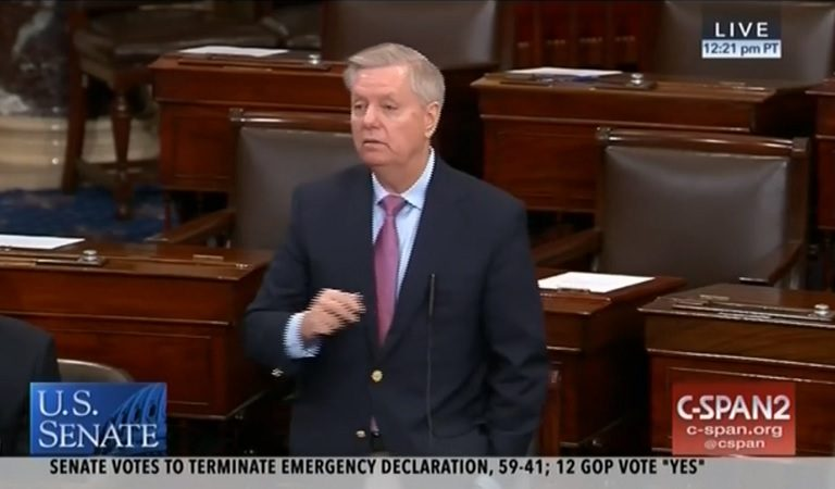 Lindsey Graham Loses What's Left Of His Mind, Blocks Mueller Report From Going Public While Demanding Another Clinton Probe