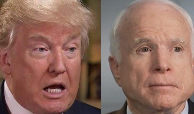 Trump Once Again Attacks Late John McCain, Promptly Gets His A** Handed To Him