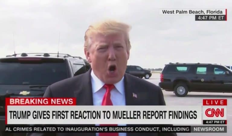Trump Stops To Speak To Reporters Before Getting On Plane, Tells Media He Wants Mueller Investigated
