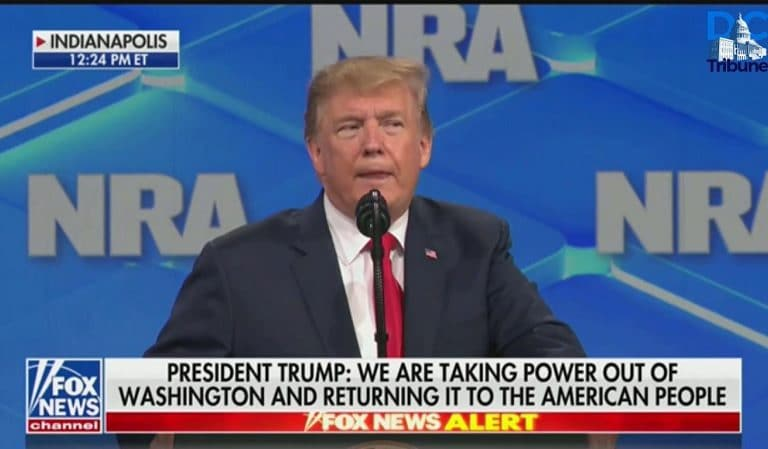 Trump Makes A Fool Out Of Himself During NRA Convention, Smears His Own Justice Department