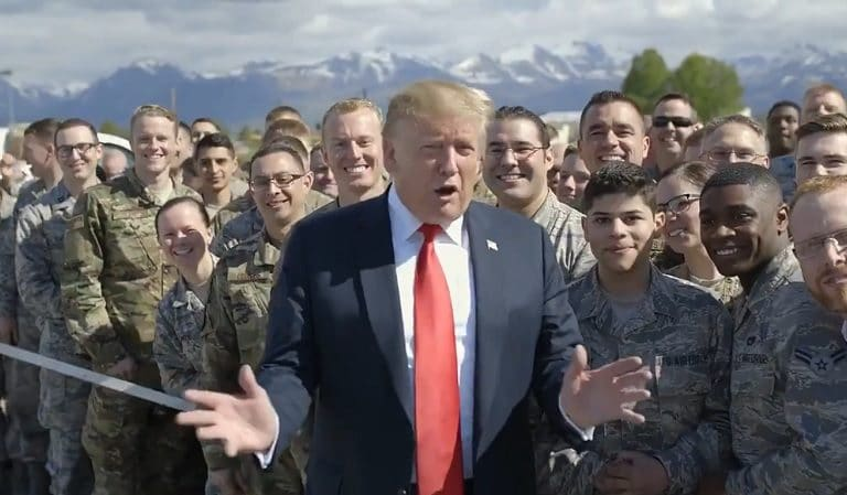On His Way To Japan, Trump Stopped To Greet Service Members In Alaska, That's When Things Got Really Weird