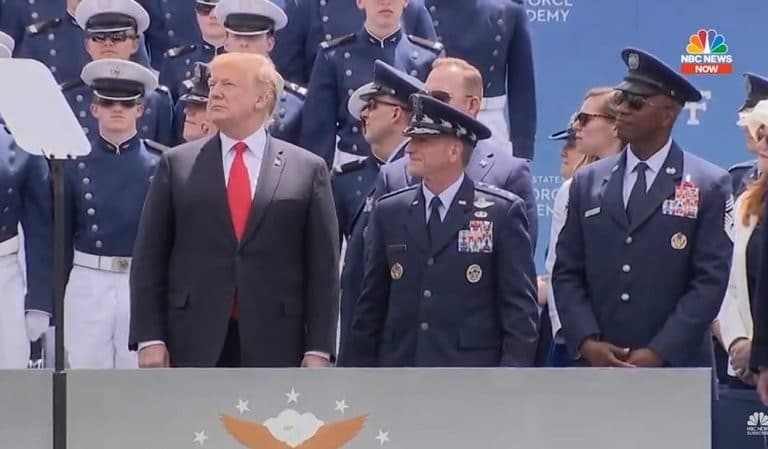 Trump Speaks At U.S. Air Force Academy, Completely Ignores Secretary Of The Air Force