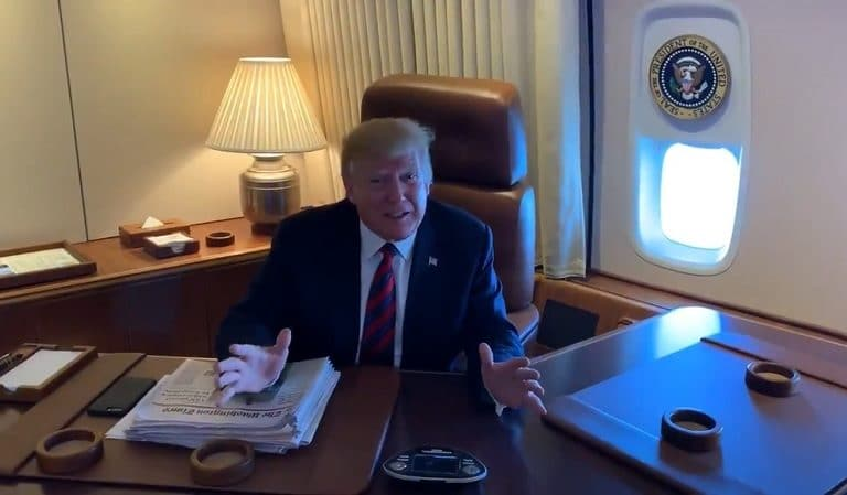 Trump May Have Just Broken The Law After Video Of Him On Air Force One Is Released