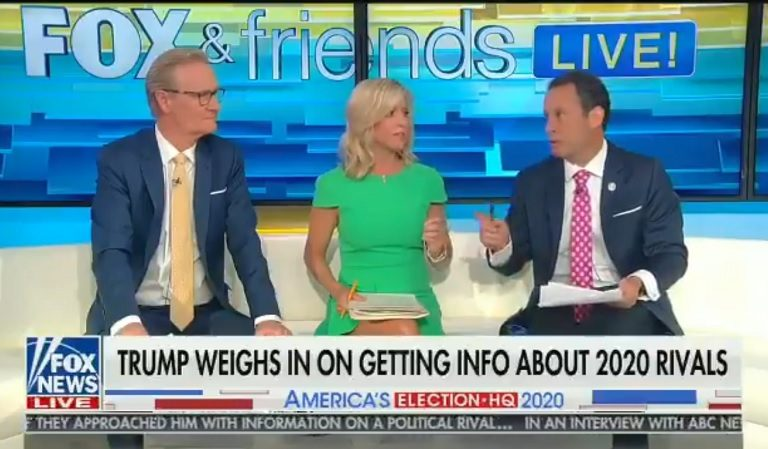 Even Fox News Can't Defend Trump, Host Begs Trump To Take Back Invitation For Foreign Meddling In 2020
