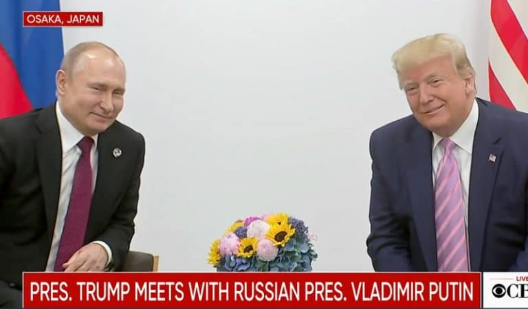 "Watch Trump Joke And Laugh With Putin At G20 Summit: ""Don't Meddle In The Election"""