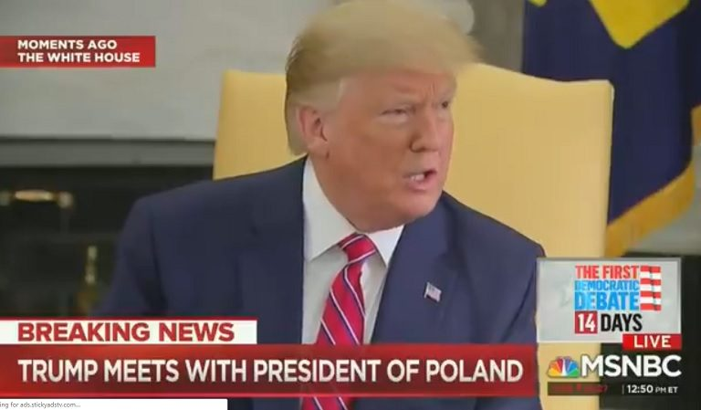 Trump Has A Hissy Fit In Front Of Polish President, Attacks US Media In Unhinged Rant