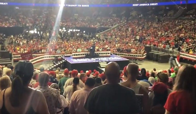 Listen To Awful Broadcast Being Played At Trump Rally Telling Supporters How To Silence Protesters