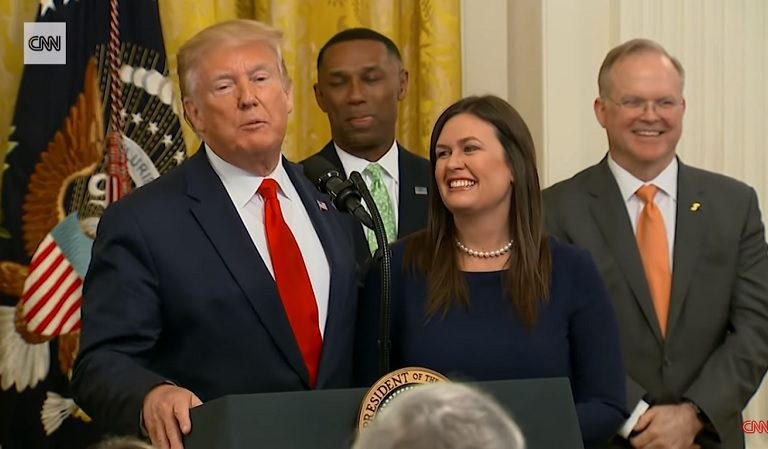 Cringe-Worthy Image Of Trump Saying Goodbye To Sarah Sanders Is Released, Americans Lose Their Lunch