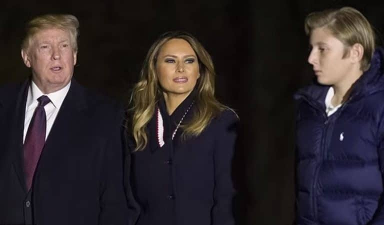 Twitter Erupts After Report Emerges Stating Melania And Son Barron Are Living With Her Parents