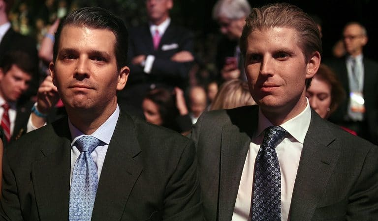 Trump's Sons Get Destroyed For Sitting Front Row At D-Day Celebration