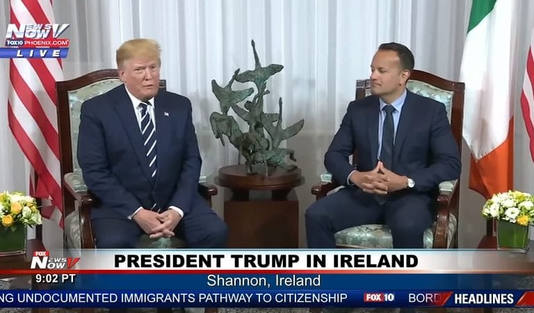"""Trump Tells Ireland's PM He's Friends With Millions Of Irish People Living In The US: """"I Know Most Of Them"""""""