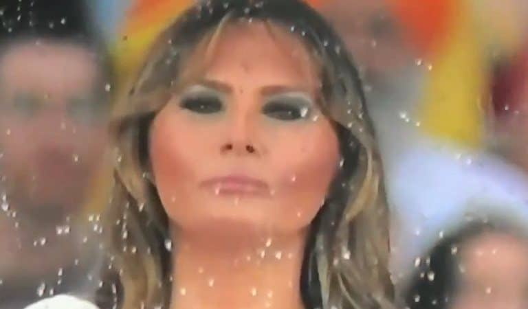 Video Footage Showed Melania Looking Disinterested At Trump's Rally