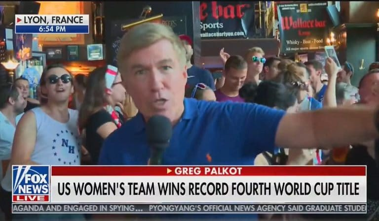 "Fox News Gets Humiliated When They Post Live Shot From Sports Bar Where US Fans Chant ""F*ck Trump"""