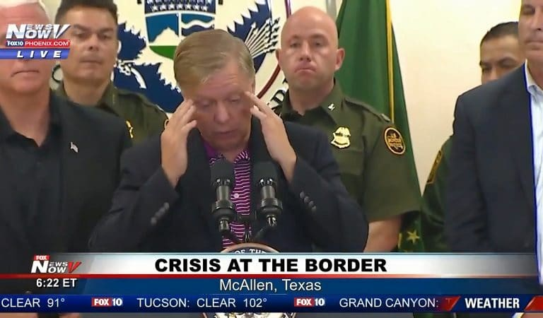 "Photo Of Lindsey Graham At Detention Center Sparks Outrage On Social Media: ""He Is Looking At Them Like Zoo Specimens!"""