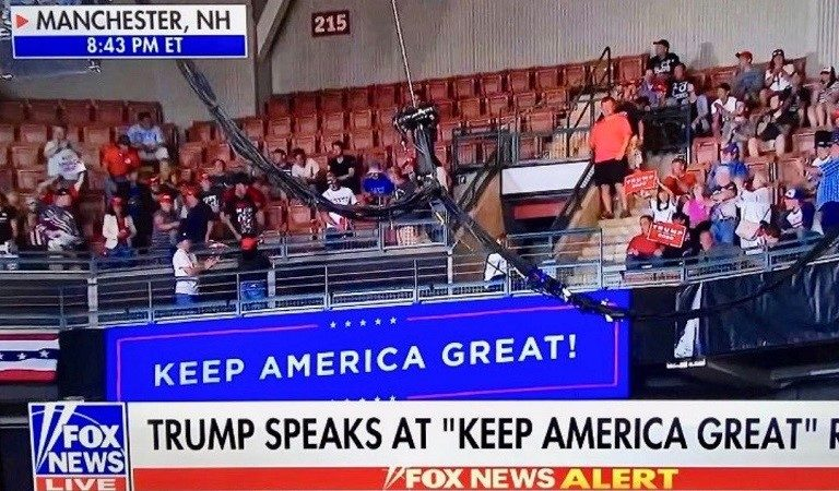 Trump Likes To Talk About Crowd Size At His Events, But Photos Of His Rally From Last Night Shows Several Empty Seats