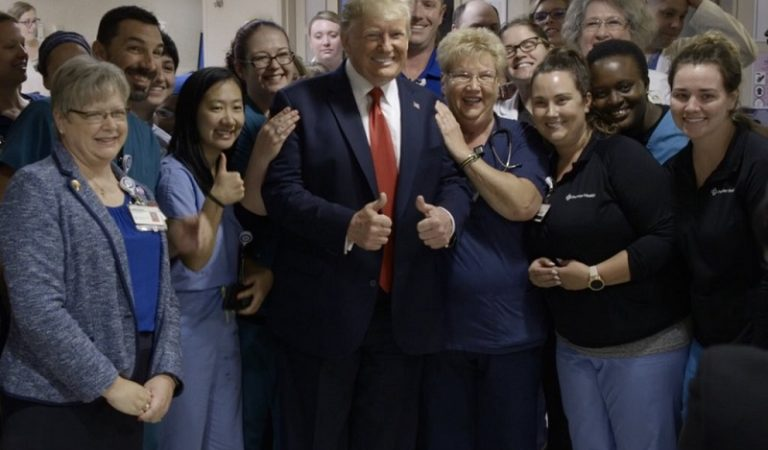 "White House Released Photos Of Trump At Dayton Hospital To Show He Was Treated Like A ""Rock Star"""