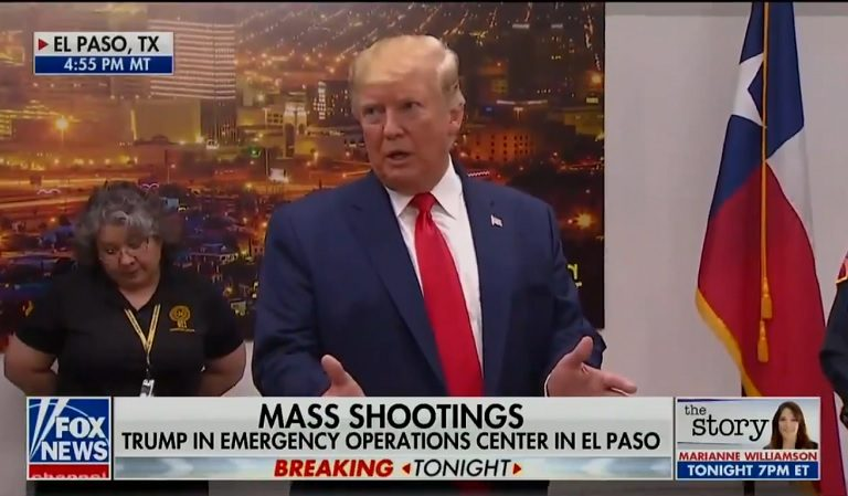 Trump Smiles And Gives Thumbs Up In Photo-Op With Baby Whose Parents Were Killed In El Paso Terror Attack