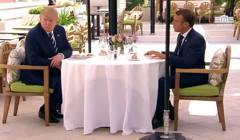 Watch As Trump Talks About The Weather After French President Tries To Talk Policy At G7 Summit