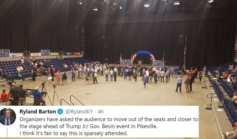 Turnout For Don. Jr Event Was So Low That Guests Were Reportedly Asked To Huddle Around The Stage