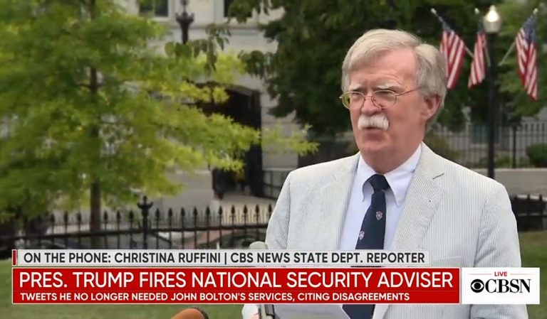 John Bolton Just Texted Fox News Host While They're Live On Air To Dispute Trump's Account Of His Firing
