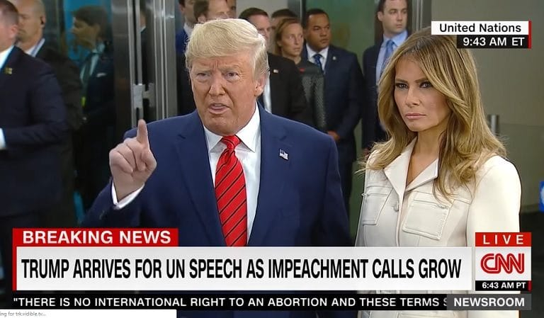 Trump Appears To Lose His Cool After He's Asked About Impeachment, Lies And Says He's Ahead In The Polls