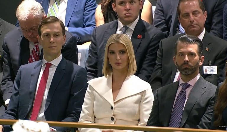 Trump's Children Cause Anger At UN Assembly After Photo Emerges Of Them Sitting In Area Reserved For The Handicapped