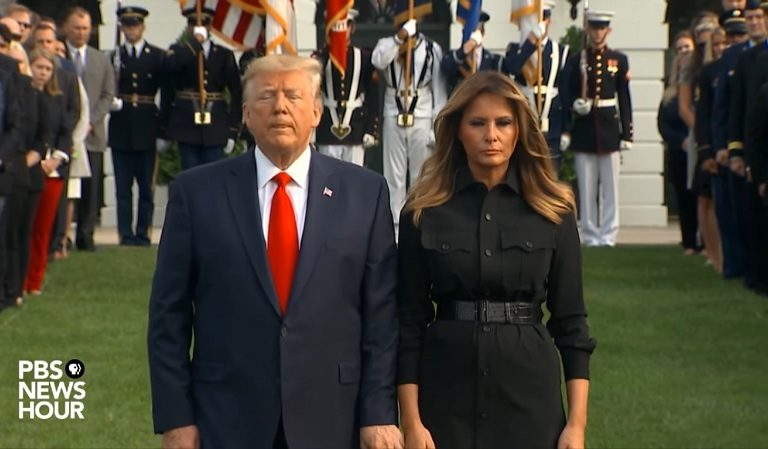 """Trump Appears Antsy During Moment Of Silence For Victim Of 9/11: """"He Can't Stand Still For One Second"""""""