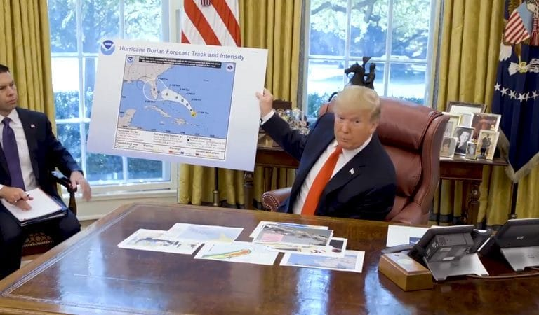 Trump Gave Hurricane Briefing With Altered Map That Falsely Shows Dorian Heading Toward Alabama