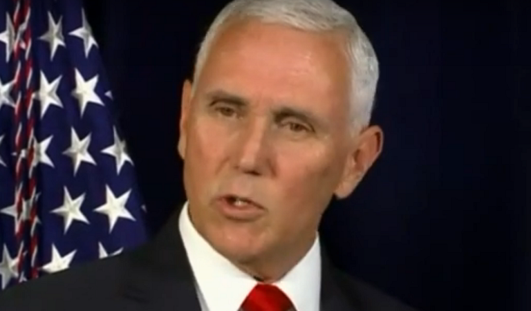 Mike Pence Suffers Apparent Break With Sanity During Speech Before Major Republican Audience